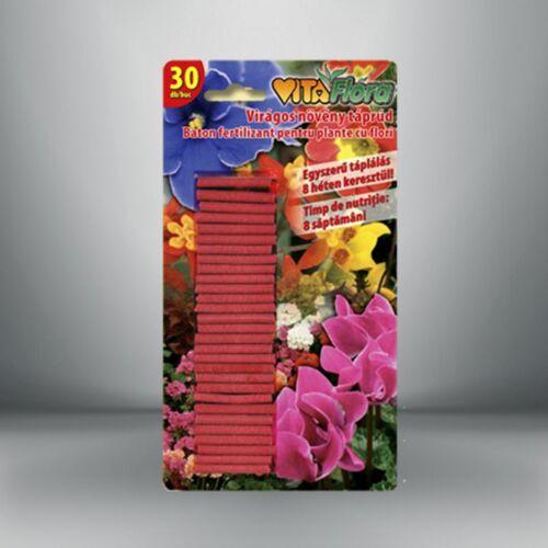 VITAFLORA táprúd virágos növényekhez, 30 db